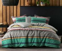 Cotton Reversible Doona Duvet Quilt Cover Queen size Multicolored
