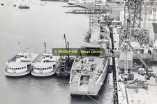 rp8935 - HMS Juno & Gosport Ferries at Vospers ,  Woolston - photograph 6x4
