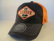 7e897794 Auburn Tigers NCAA Zephyr Trucker Snapback Hat Cap Navy Orange