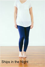Leggings Super Soft ONE SIZE OS SOLID Blue Buttery Soft Ooh La Leggings