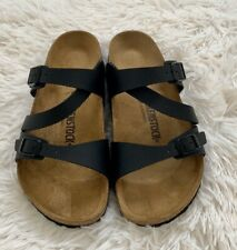 New Birkenstock Salina Women's Black Slide Sandals Sz 8, Euro 39 Regular Fit