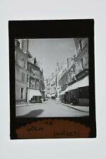 FRANCE 1936 RUE DE GIEN LOIRET Photo Positive Plaque Verre6x9