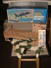 NOS BATTERY OPERATED, HAWKER SIDDELEY HARRIER JET GB.MK.1 WORKS PERFECTLY W/BOX!