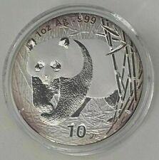 2002 10yn China Silver 1oz Panda Coin