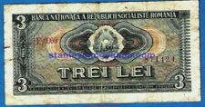 More details for ex rare romania p92 3 lei arms socialist republic national bank issue 1966 gvf
