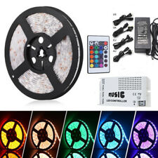 5M 5050RGB  Waterproof  Strip Lights + Sound Sensor IR Controller + Power supply