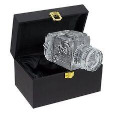 Hasselblad Camera Crystal Replica Lens Photo Bookend Shelf Window Decor Gift Box