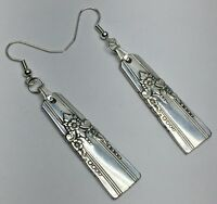 Spoon Earrings 1940 WM Rogers Oneida Artistic Vintage Antique Silverware Plate