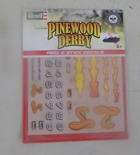 (HB) 3 OF Revell Pinewood Derby Peel & Stick Decals A/B/C RMXY9627/8/9 NIP