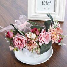 Garland Boho Large Flower Crown Floral Women Hairband Headband Party Wedding