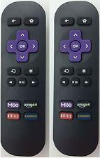 2Pcs Replaced Remote for roku LT HD XD XS XDS 1 2 3 w MGO Netfilx amazon App key