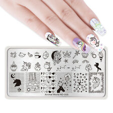 NICOLE DIARY Nail Art Stamping Plates Image Template Manicure Star Heart Decor