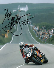 John McGuinness - 2007 Isle of Man TT Autographed 16 x 12 Creg Ny Baa Picture.