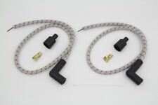 Sumax Grey with Brown Tracer 7mm Spark Plug Wire Set For Harley-Davidson