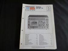 Original Service Manual  ITT Graetz Hifi MTT20