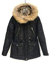 Zara schwarz gesteppt Jacke mit Kapuze Größe S