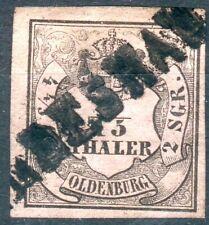 """Oldenburg Mi.-Nr.3II mit Einzeiler Stempel """"Wildeshausen"""" pracht"""