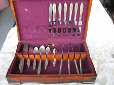 Beautiful 51 Pc Set of Community Birds of Paradise Silverplated Flatware