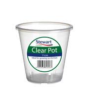 Stewart Garden Plastic Plant Pot Clear Orchid Planter - 11cm