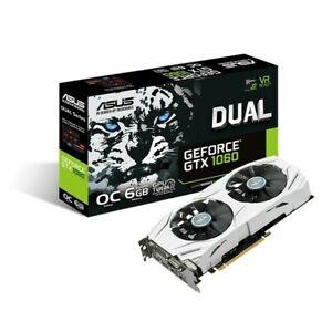 ASUS GeForce DUAL-GTX1060-O6G 6 GB Graphics Card White VR ready OC edition