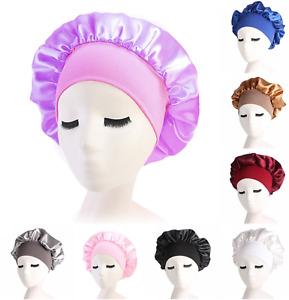 Satin Bonnet Hair Styling Cap Long Hair Care Women Night Sleep Purple