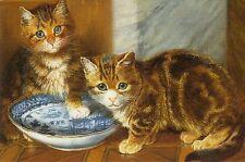 Grußkarte: No Luck Today - Malerei von Wilson Hepple (1854-1837) - Katzen