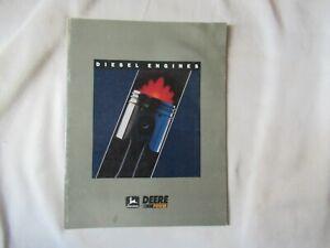 1991 John Deere 300 400 500 600 series diesel engine brochure