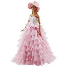 DE Puppe Kleid Kleidung Kleider Hut Crown Outfits für Barbie Puppen Mädchen