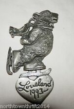 1993 Ice Follies Pewter Loveland Colorado Christmas Ornament