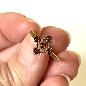 Vintage 9ct gold garnet ring #719