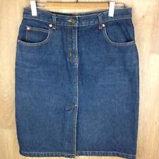 INNOVARE Petites Womens Blue Denim Straight Skirt BNWOT Size12 , Split At Front