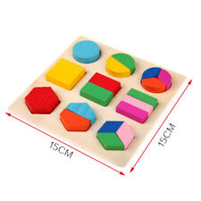 Children Wooden Toy Learning Educational Toy Geometry Block Learning Toy Gift