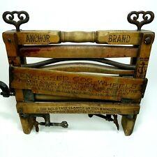 Vintage Cloths Wringer Wood Handel Anchor Brand Lovell mfg co Erie Pa