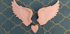 Bubblegum pink Angel wings and heart