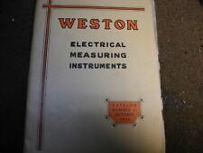 Weston Electrical Measuring Instruments Catalog #11 1935 Original