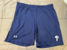 Philadelphia Phillies Under Armour Heat Gear Basketball Shorts  Navy Mens 3XL