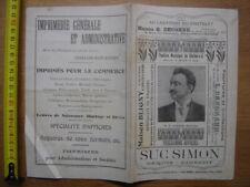 1908 Programme THEATRE MUNICIPAL DE CHALON SUR SAONE Mignon