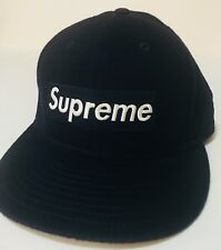 a9cdeba7f94a8 Supreme BOX LOGO New Era fitted hat cap woolrich 7 3 8 may 2011 RARE