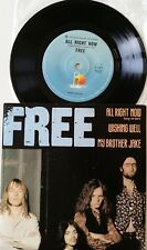 """FREE Island Aussie 7"""" 45 PC EP """"All Right Now/Wishing Well/My Brother Jake"""" VG"""