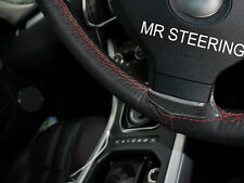 Para Mercedes W203 00-07 Cubierta del Volante Cuero Verdadero rojo oscuro doble puntada