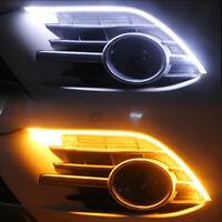 2X 60cm/45cm Switchback Sequentielle LED Strip Streifen DRL Tagfahrlicht Blinker