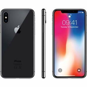 Apple iPhone X - 64GB BLACK- Fully Unlocked/US Network Unlocked
