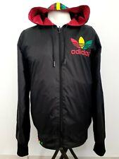 Adidas Rasta Rare Retro Vintage Reversible Hoodie Jacket S / Big Stripes Marley