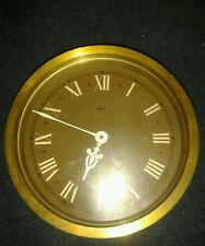 Vintage Gibson Brass clock Baume & Co England