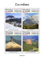 Guinea Landscapes Stamps 2020 MNH Volcanoes Mount Usu Asama Mountains 4v M/S