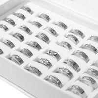 6 Stück Großhandel Herren Damen Charme Ring Mode Edelstahl Band Ring Schmuck