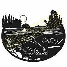 dxf cnc files plasma laser clipart plasmacam walleye and pines