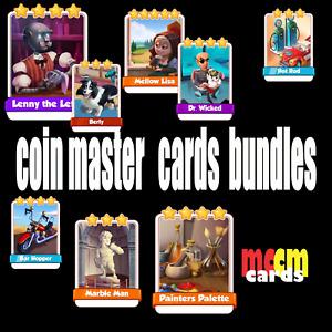 coin master  cards bundles x5