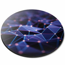 Round Mouse Mat - 3D Abstract Mountain Terrain Office Gift #21056