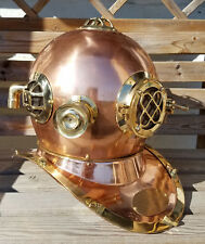 "Antique 18"" U.S Navy Diving Helmet Mark V Deep Sea Divers Helmet Vintage Replica"